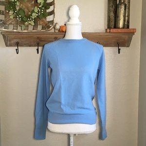 Equipment 100% Cashmere Womens Sweater Baby Blue